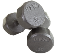 12 Sided Solid Gray Dumbbells