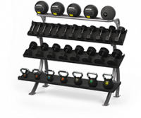 FZ-11 3-Tier 6Ft Dumbbell/Kettlebell Rack