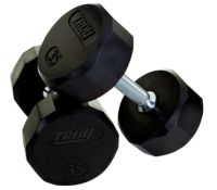 Quiet Iron rubber encased dumbbell