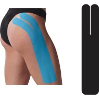 Precut Full Knee Tape, BLACK