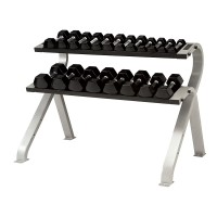 TKO 2-Tier Horizontal Dumbbell Rack