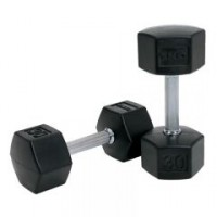 SDS Rubber HEX Dumbbells (55 - 100 lbs)