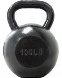 Troy 100 lb.Black cast Kettlebell